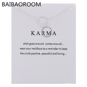 Karma double circle lariat necklace, chains - Yemaya Luna