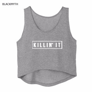 Killin It  Crop Top, shirt - Yemaya Luna
