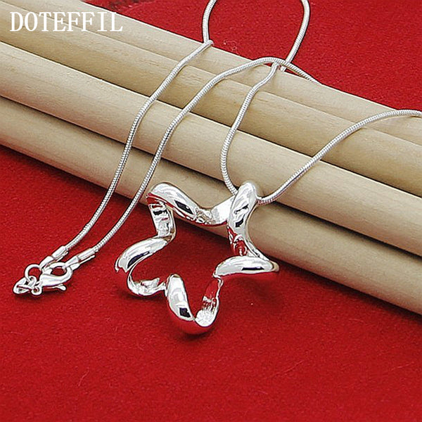 925 Sterling Silver  18 Inches Starfish Pendant Necklace, chain - Yemaya Luna
