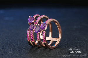 """Grab on and Hold"" Amethyst Rings, ring - Yemaya Luna"