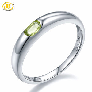 Natural Peridot Gemstone 925 Sterling Silver Ring, Rings - Yemaya Luna