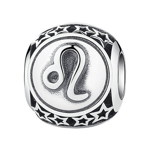 925 Sterling Silver 12 Astrological Charm Beads, Bracelet - Yemaya Luna