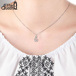 Crystal Women S925 Sterling Silver Necklaces Cute Fox Pendant