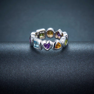 Multi Color Solid 925 Sterling, rings - Yemaya Luna