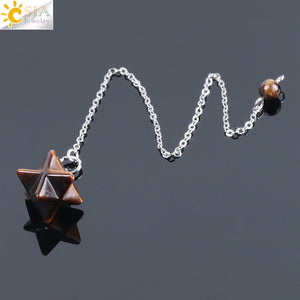 Natural Gem Stones Merkabah Pendulums for Dowsing, Metaphysical - Yemaya Luna