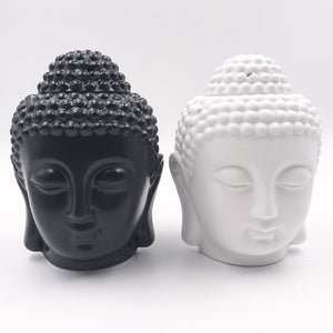 Ceramic Aromatherapy Oil Burner Buddha Head, Metaphysical - Yemaya Luna