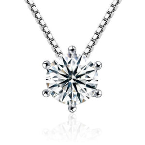 Sterling Silver CZ Zirconia Pendant Necklace, chains - Yemaya Luna