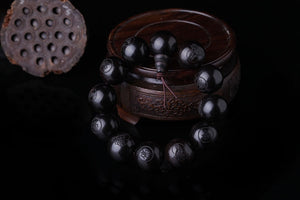 Natural Ebony 15mm 20mm Beads Buddhist Prayer Bracelets, Bracelet - Yemaya Luna