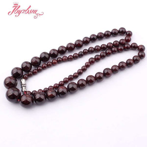 Natural Garnet Beads GemStone  Necklace, chains - Yemaya Luna