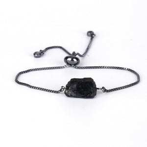 Black Tourmaline and Hematite Adjustable Healing Stone  Bracelets, Bracelet - Yemaya Luna