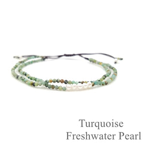 Delicate  Adjustable Green Agate and Amethyst Gemstone Bracelet, Bracelet - Yemaya Luna