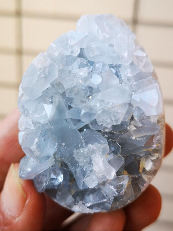140g Natural celestite geode quartz cluster, Metaphysical - Yemaya Luna