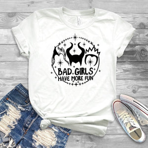 Bad Girls Have More Fun Shirts Funny Villains Tee, tshirt - Yemaya Luna