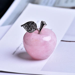 1PC natural rose quartz pink apple, Metaphysical - Yemaya Luna