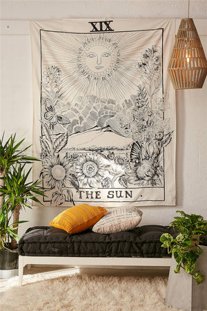 India Mandala  Hanging Wall  Tapestry, metaphysic - Yemaya Luna