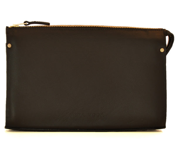 Leather Clutch - Black