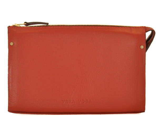 Leather Clutch - Red