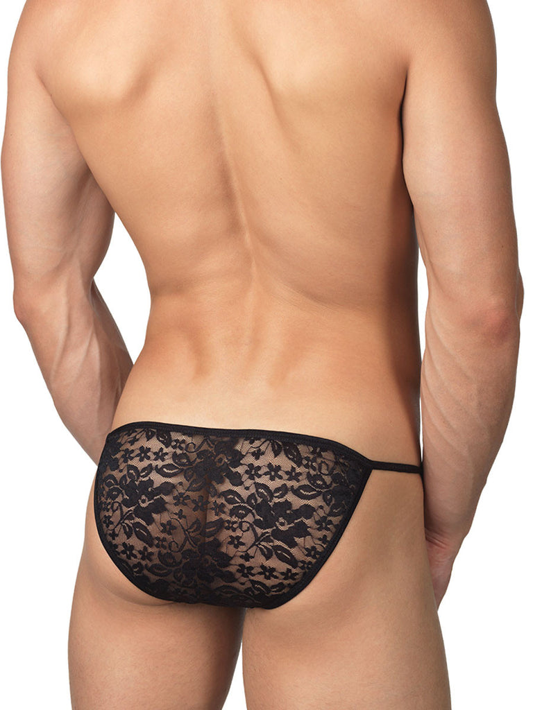 Soft and Sexy Lace Tanga  Black