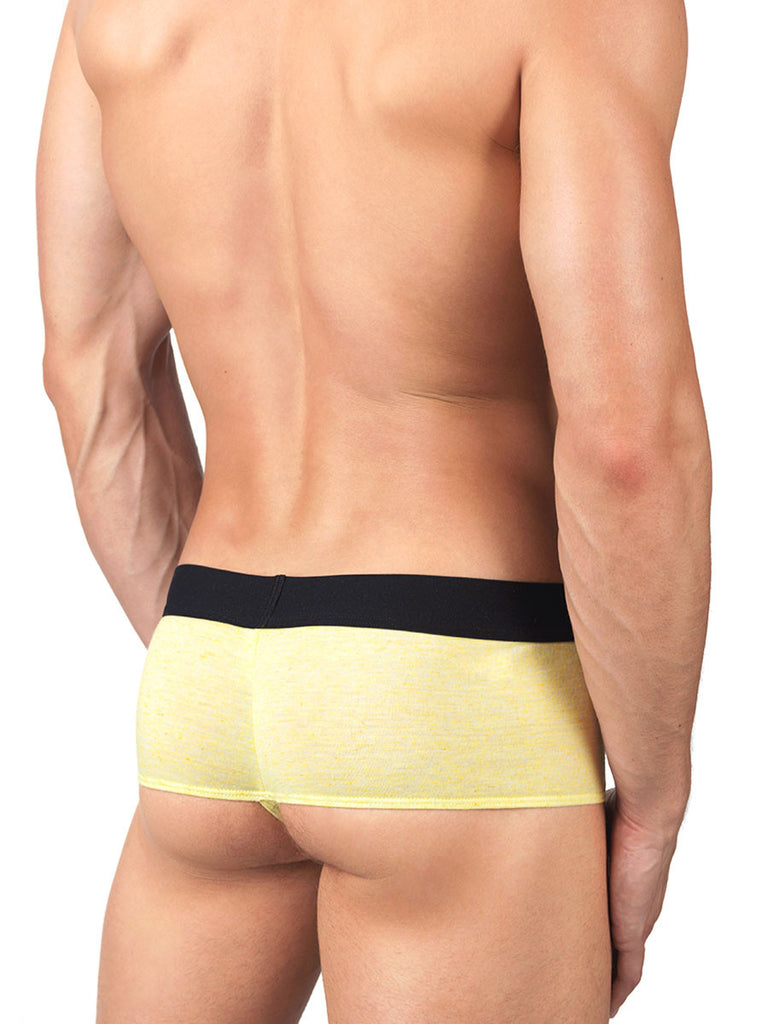 Linen Booty Short Yellow