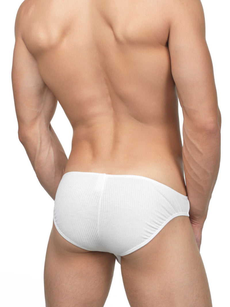 Men's Ribbed Bikini Briefs