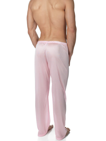 Men's vintage pink nylon lounge pants