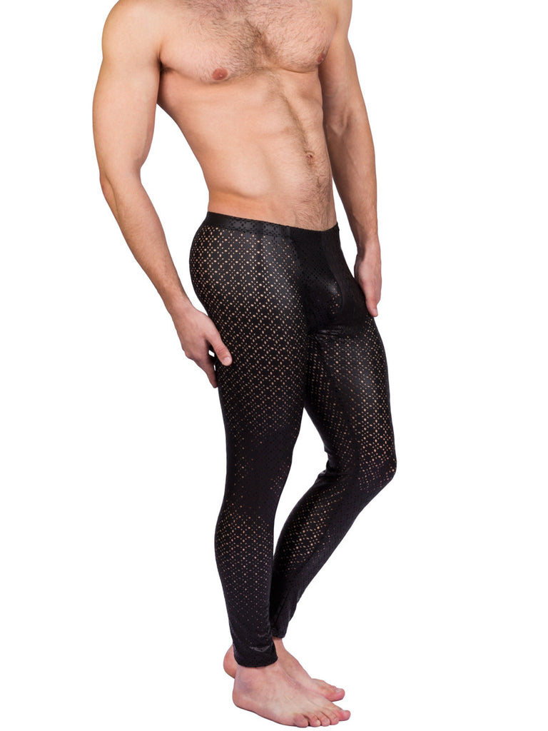 Men's black stretch leggings