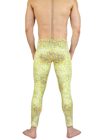 Men's Smooth floral pattern Velvet Leggings