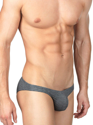 Men's Grey Rayon Bikini Cut Brief #WhiskeyWednesday