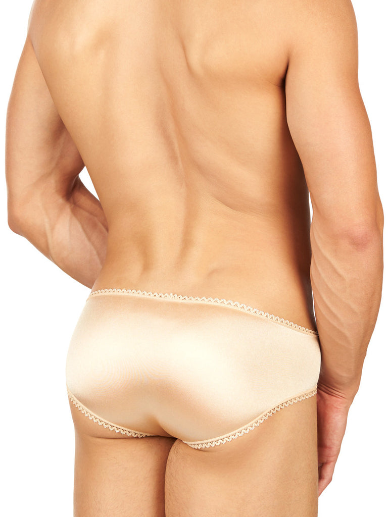 Summer Satin and Lace Panty Nude