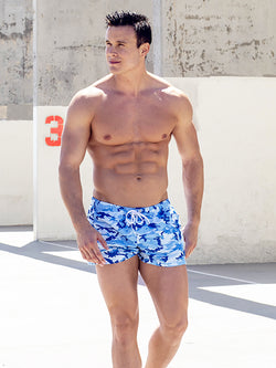 Men's Blue Camouflage Shorts