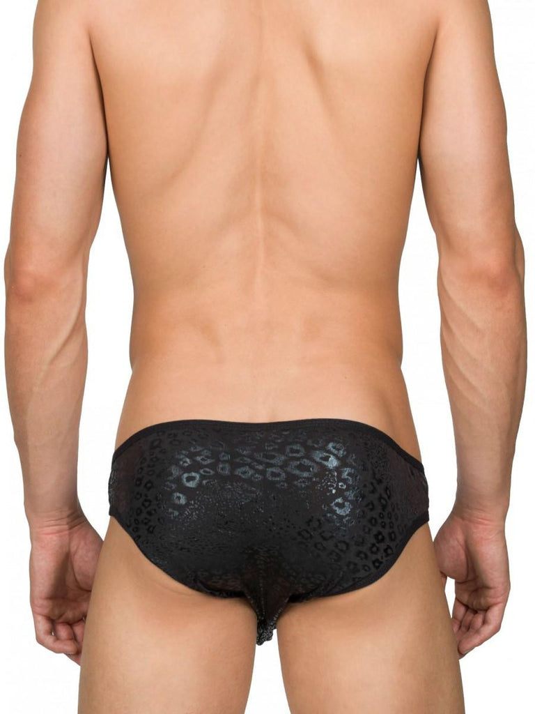 Ghost Leopard Snap Brief