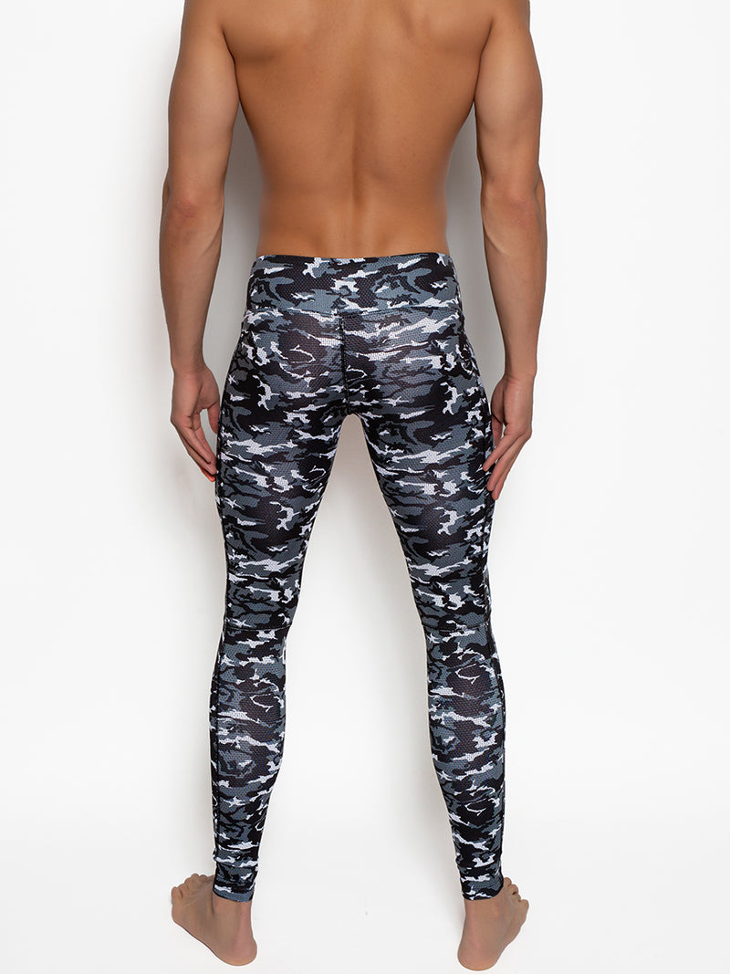 Men's Black Camouflage Leggings