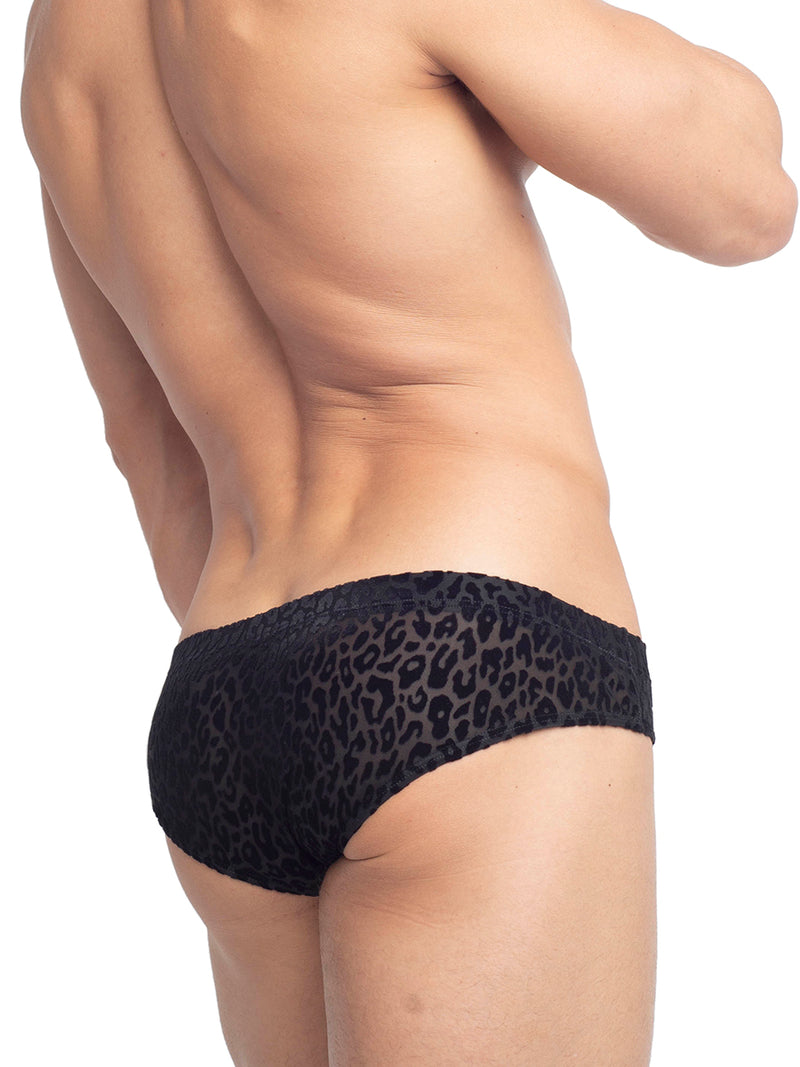 Men's Velvet Cheetah Print Briefs