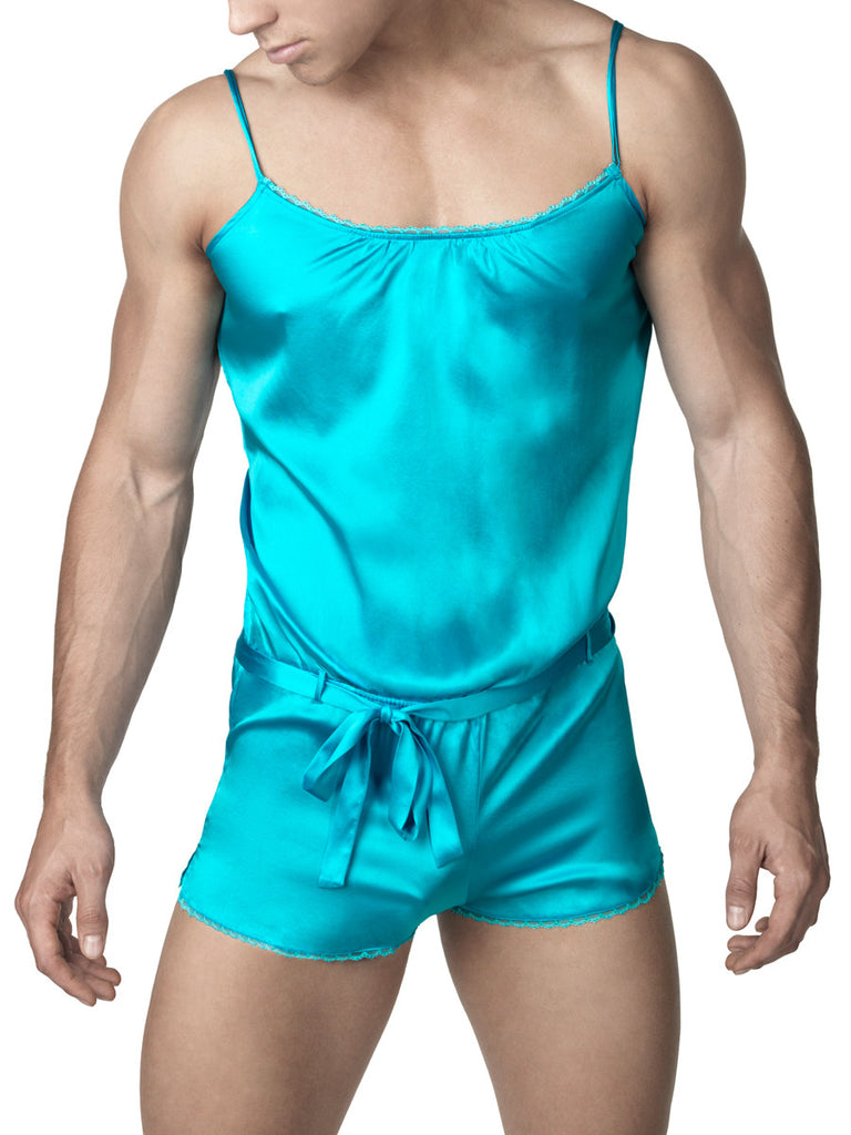 Pure Silk Teddy - S and M only Turquoise