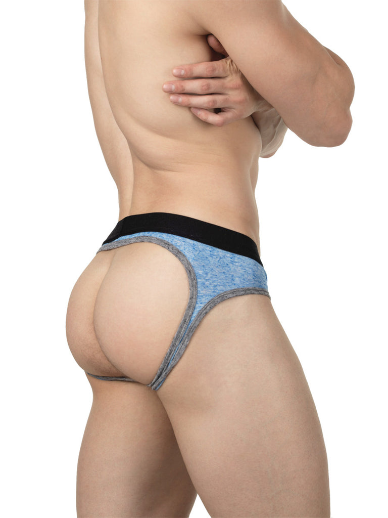 Retro Linen Jock Brief Blue