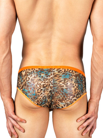 Men's sparkly cheetah print brief panties