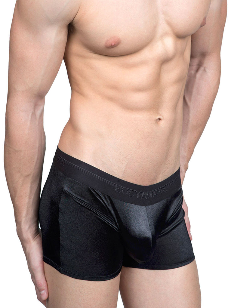 The Smooth Satin Boxer - S only! Black