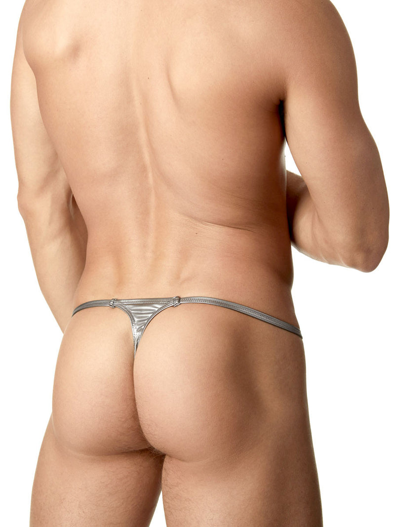 Sexy Metallic Thong For Men