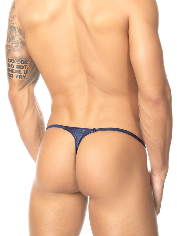men's navy blue g-string thong