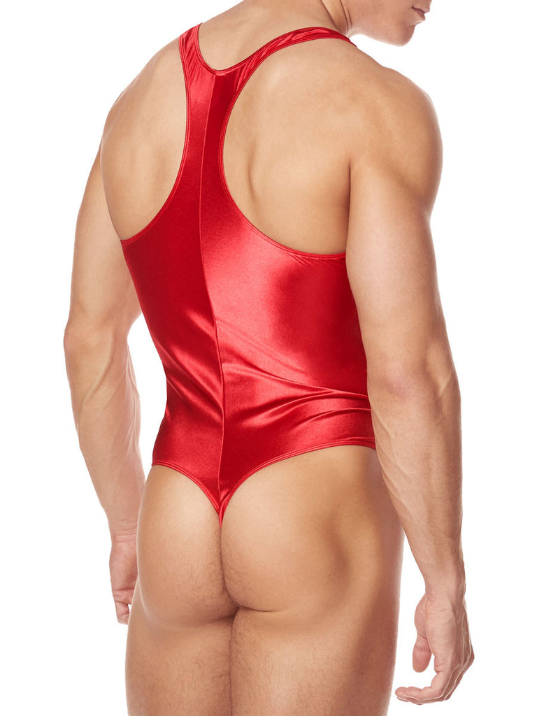 Smooth Satin Thong Bodysuit