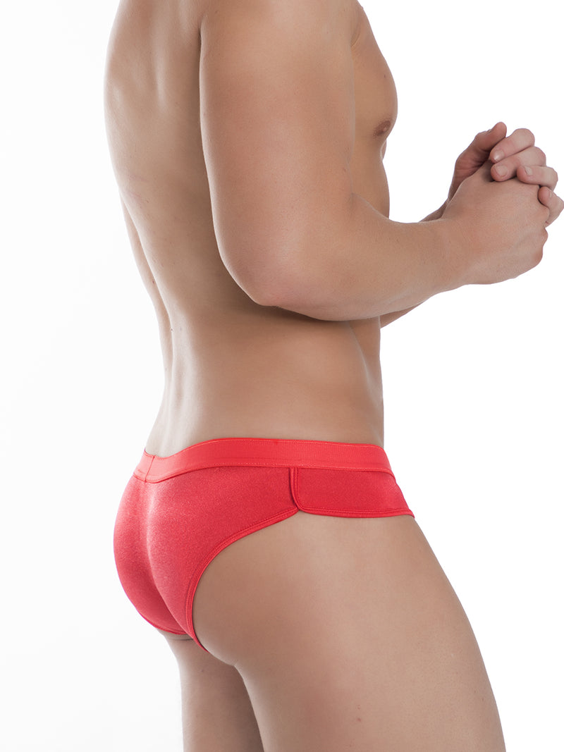 Men's Red Satin Briefs