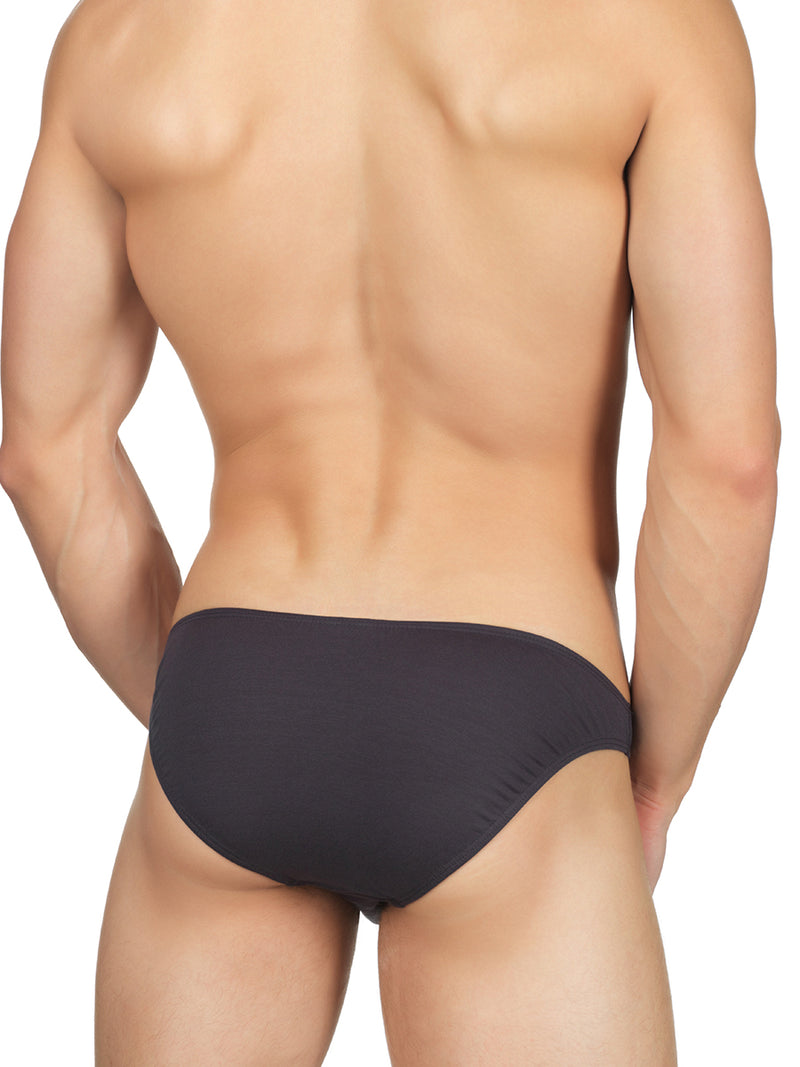 Men's grey Bikini Cut Briefs
