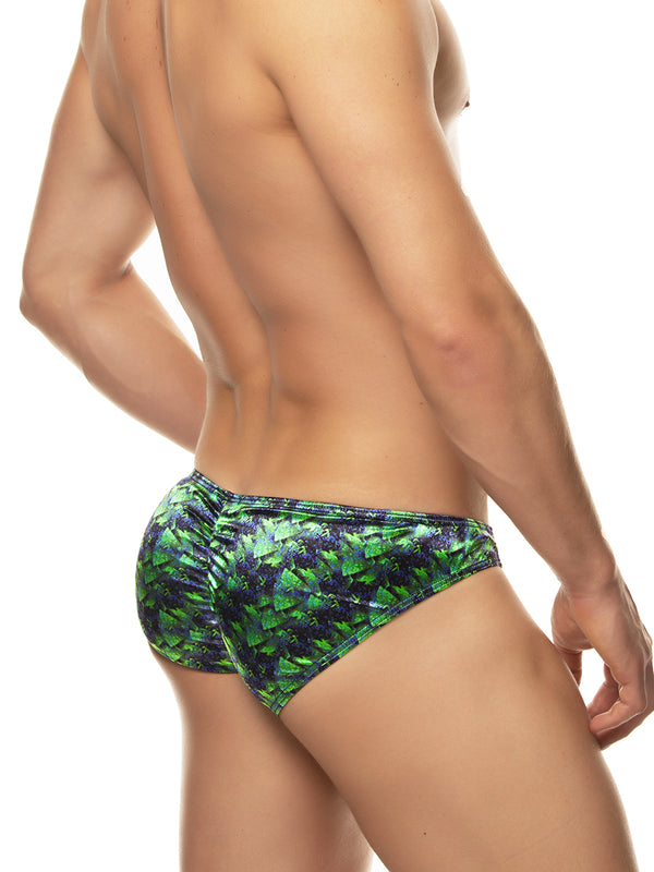 Sleek Print Satin Brief