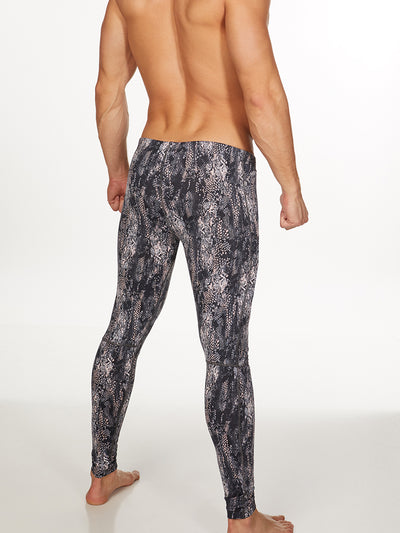 Men's Snakeskin Leggings
