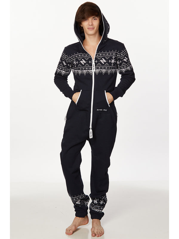 men's holiday onesie pajamas