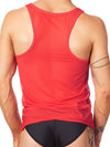 men's red mesh tank top