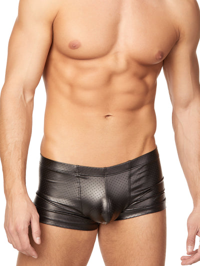 Men's Pleather Booty Shorts