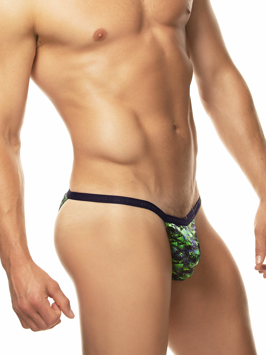 Sleek Print Satin Tanga