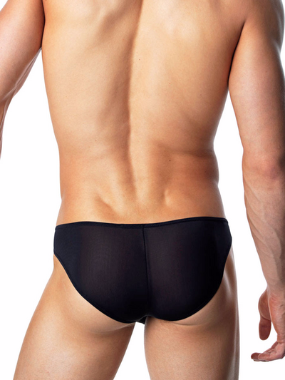 Men's Black Bikini Briefs
