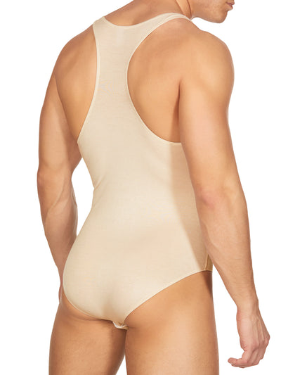 Men's Nude Soft Bodysuit Leotards
